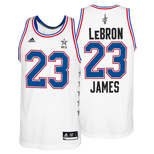 quality design ce1c3 69bdf LeBron James #23 Cleveland Cavaliers Adult NBA Replica White Eastern  Conference All Star Jersey