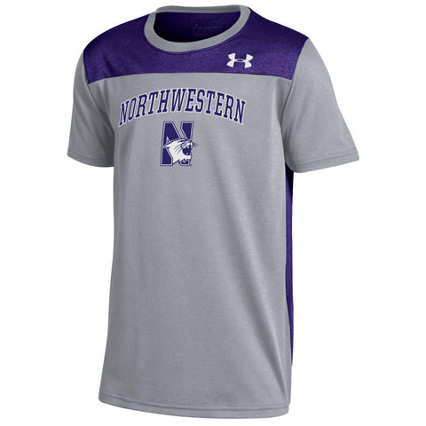 Northwestern Wildcats Under Armour Youth Foundation Shirt - Dino's Sports Fan Shop