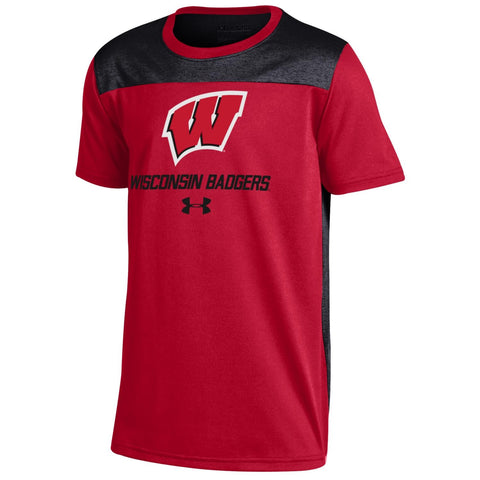 Wisconsin Badgers Under Armour Youth Foundation Shirt - Dino's Sports Fan Shop