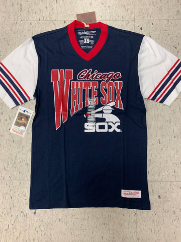 Chicago White Sox Adult Mitchell & Ness Navy Shirt