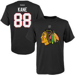 Patrick Kane #88 Chicago Blackhawks Reebok Youth Black Shirt - Dino's Sports Fan Shop