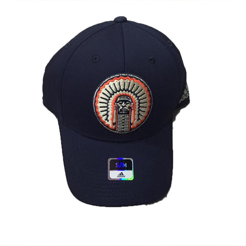 Illinois Fighting Illini Adidas Structured Flex Blue Men's Hat - Dino's Sports Fan Shop