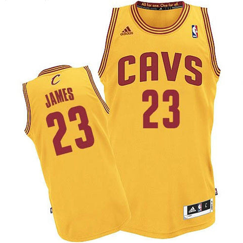 LeBron James #23 Cleveland Cavaliers Adidas NBA Youth Swingman Jersey - Gold - Dino's Sports Fan Shop