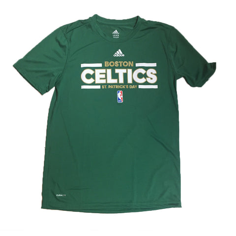 Boston Celtics Adidas ClimaLite St. Patrick's Day Youth Shirt - Dino's Sports Fan Shop