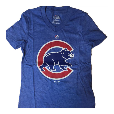 Chicago Cubs Majestic V-Neck Alternate Logo Youth Girl's Shirt