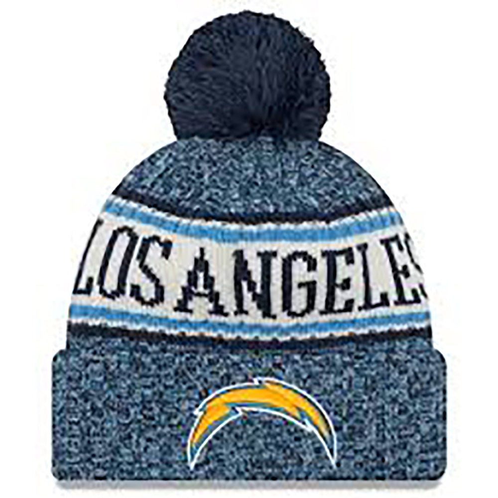 Los Angeles Chargers New Era NFL Blue Sideline Winter Hat 7f737b1e3d4