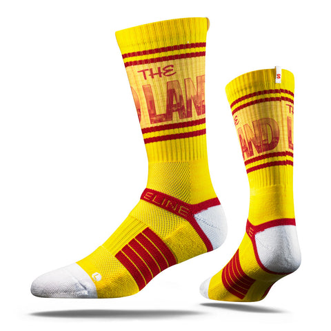 "Cleveland Cavaliers Strideline ""The Land"" Yellow Strapped Fit 2.0 City Socks - Dino's Sports Fan Shop"