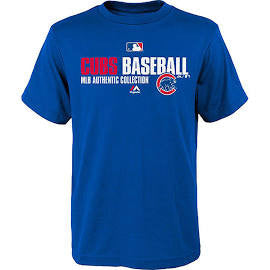 Chicago Cubs Majestic Blue Authentic Collection Youth Shirt - Dino's Sports Fan Shop