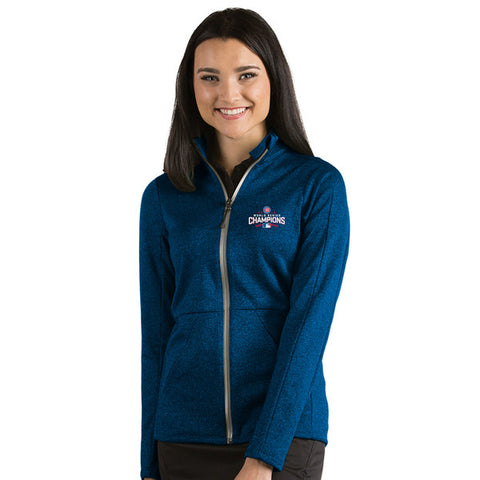 Chicago Cubs Antigua MLB Blue 2016 World Series Champions Boost Full Zip Women's Jacket