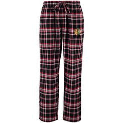 Chicago Blackhawks Concepts Sleepwear Adult Plaid Bleacher Pajama Pants - Dino's Sports Fan Shop