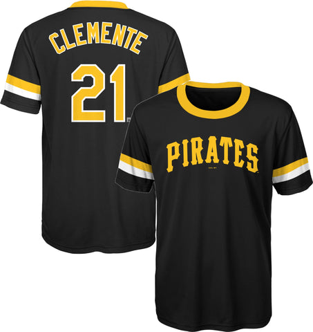 Roberto Clemente #21 Pittsburgh Pirates Gen2 Black Dri-Fit Youth Jersey Shirt