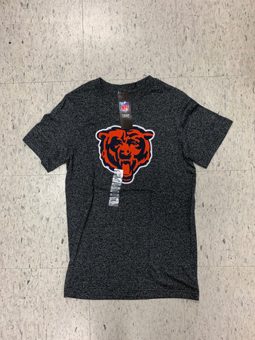 Chicago Bears Big Logo Adult Majestic Gray Shirt (S)