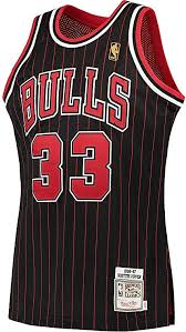 Scottie Pippen Youth Mitchell And Ness Throwback Black Jersey