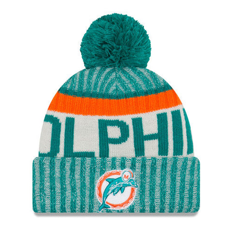 newest 5099f 61a39 Miami Dolphins New Era 2017 Official Sideline Sport Knit Hat