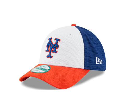 New York Mets New Era Team Colors Perforated Block 9Forty Adult Hat