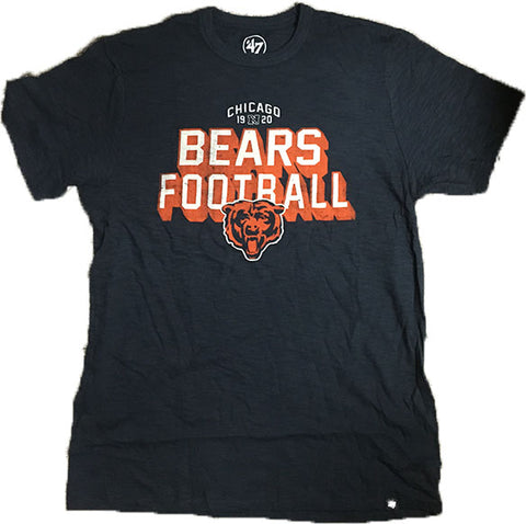 Chicago Bears Blue Scrum Tee Adult Shirt