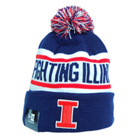 Illinois Fighting Illini Biggest Fan Redux Knit Hat