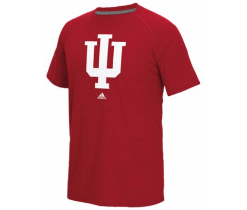 Indiana Hoosiers Adidas Red Logo Go-To Shirt - Dino's Sports Fan Shop