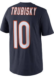 Mitch Trubisky #10 Majestic Chicago Bears Name And Number T-Shirt