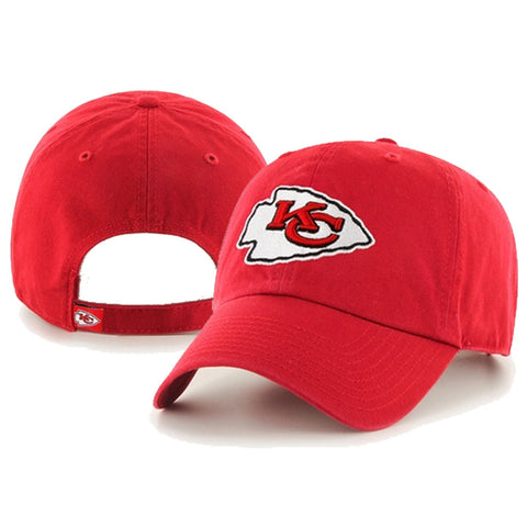 Kansas City Chiefs Red '47 Brand Clean Up Adjustable Hat