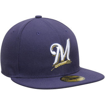 Milwaukee Brewers New Era Authentic On Field Game 59FIFTY Hat - Dino's Sports Fan Shop
