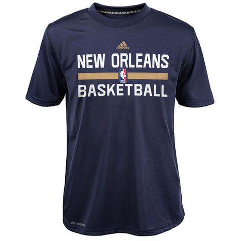 New Orleans Pelicans Adidas Navy ClimaLite Practice Youth Shirt - Dino's Sports Fan Shop