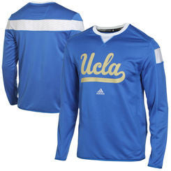 UCLA Bruins Adidas Sideline Climalite Crewneck Long Sleeve Pullover - Dino's Sports Fan Shop