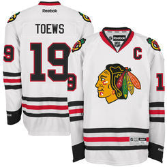 Jonathan Toews #19 Chicago Blackhawks Youth White Premier Stitched Reebok Jersey - Dino's Sports Fan Shop