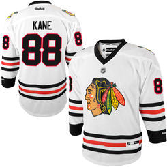 Patrick Kane #88 Chicago Blackhawks Reebok Youth White Replica Player Hockey Jersey - Dino's Sports Fan Shop