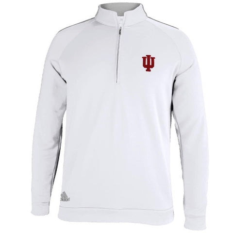 Indiana Hoosiers Adidas White 1/4 Zip Jacket - Dino's Sports Fan Shop