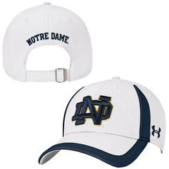 Notre Dame Fighting Irish Under Armour One Size White Hat - Dino's Sports Fan Shop