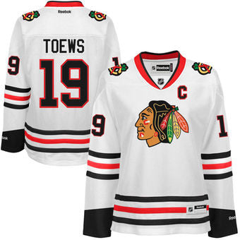 Jonathan Toews #19 Chicago Blackhawks White Reebok Premier Women's Jersey - Dino's Sports Fan Shop