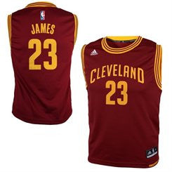 LeBron James #23 Cleveland Cavaliers Adidas NBA Youth Swingman Jersey - Red - Dino's Sports Fan Shop