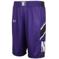Northwestern Wildcats Under Armour Youth Purple Game Shorts - Dino's Sports Fan Shop