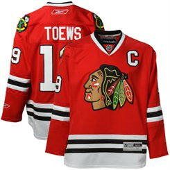 Jonathan Toews #19 Chicago Blackhawks Youth Premier Home Jersey by Reebok - Dino's Sports Fan Shop