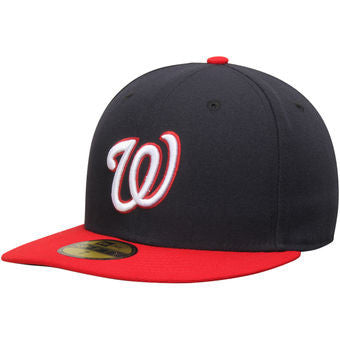 Washington Nationals New Era Navy Blue-Red Official On-Field Performance Fitted Hat - Dino's Sports Fan Shop