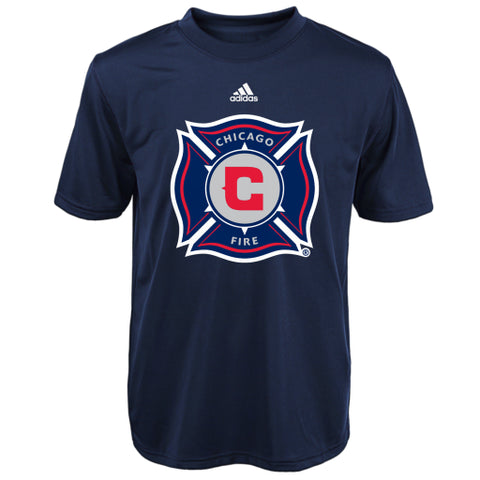 Chicago Fire Adidas MLS Youth Blue Perfromance Soccer Shirt - Dino's Sports Fan Shop