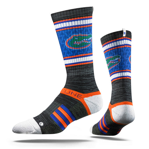 Florida Gators Strideline Charcoal Gator Strapped Fit 2.0 Collegiate Socks - Dino's Sports Fan Shop