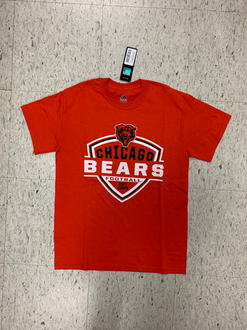 Chicago Bears Football Adult Majestic Orange Shirt