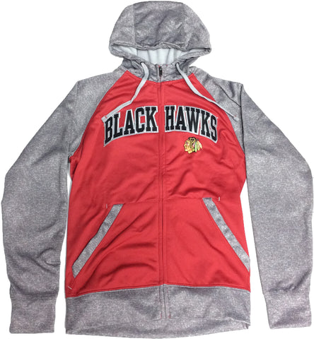Chicago Blackhawks Antigua Men's Full Zip Sweatshirt - Dino's Sports Fan Shop
