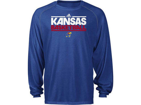 Kansas Jayhawks Adidas On Court Practice ClimaLite L/S Shirt - Dino's Sports Fan Shop