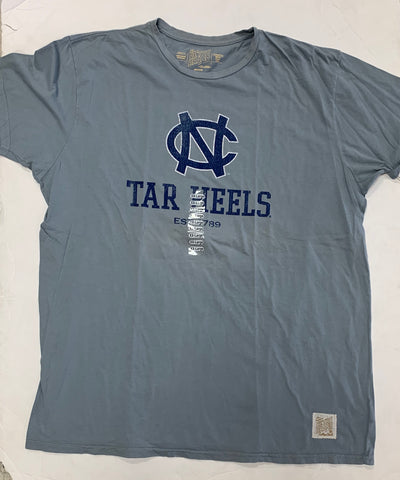 North Carolina Tar Heels Est. 1789 Adult Retro Brand Blue Shirt (XXL)