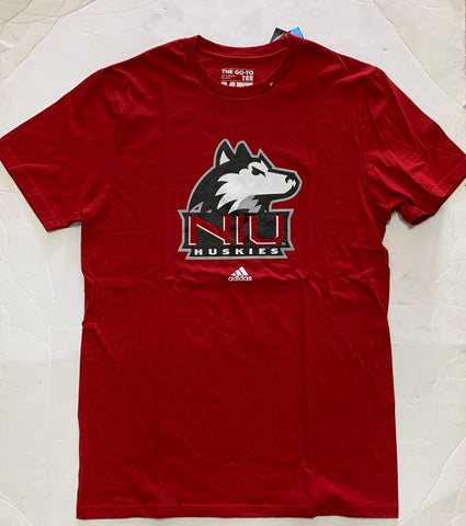 Northern Illinois Huskies Adult Adidas Go-To Tee Red Shirt (M)
