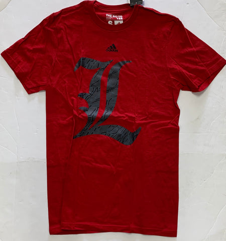 Louisville Cardinals Adult Adidas Go-To Tee Red Shirt