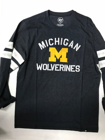 Michigan Wolverines Adult Fall Navy 47 Brand L/S Shirt
