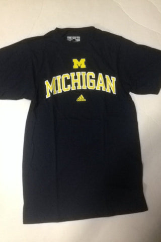 Michigan Wolverines Adidas Navy Go-To Shirt - Dino's Sports Fan Shop