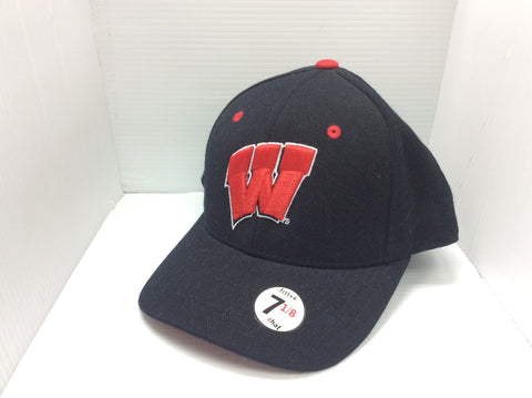 Wisconsin Badgers Zephyr Black Fitted Hat