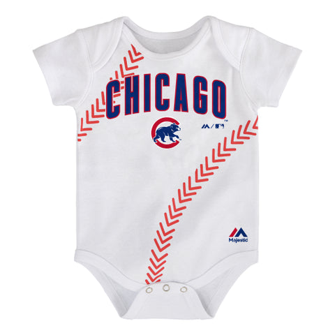 Chicago Cubs Majestic White Onesie