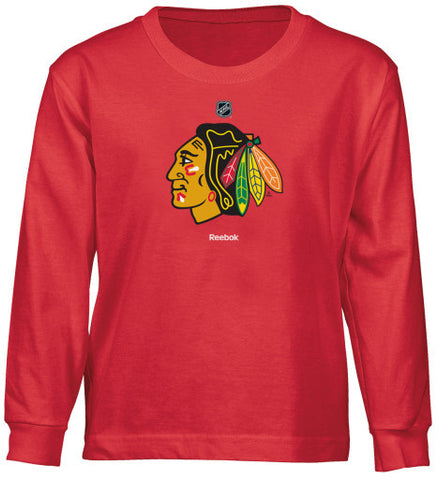 Chicago Blackhawks Reebok Logo L/S Youth Shirt - Dino's Sports Fan Shop