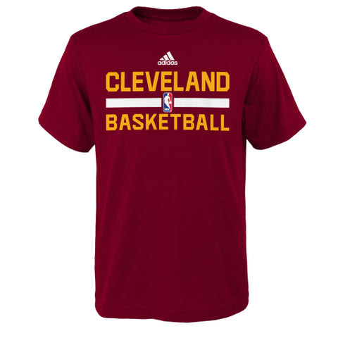 Cleveland Cavaliers Adidas Maroon Practice Youth Shirt - Dino's Sports Fan Shop